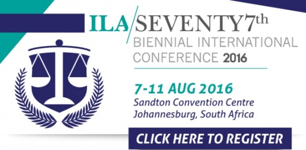 EARLY BIRD REGISTRATION ENDS 29 February 2016: ILA 2016 Biennial Conference, 7 - 11 August, Johannes